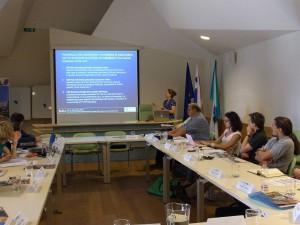 Projekttreffen in Bovec (Slowenien) im Mai 2012 (© Cultural Capital Counts)